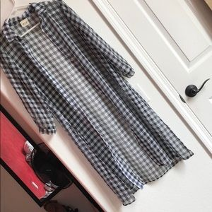 Tops - Sheer Plaid Duster